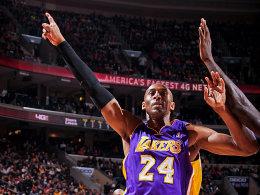 Und wieder der Beste! Kobe Bryant trumpfte in seiner Geburtsstadt Philadelphia mächtig auf.