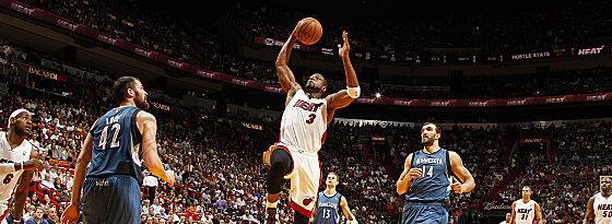 Allen Reboundschwächen zum Trotz: Dwyane Wade führte die Heat zum Sieg über Minnesota.