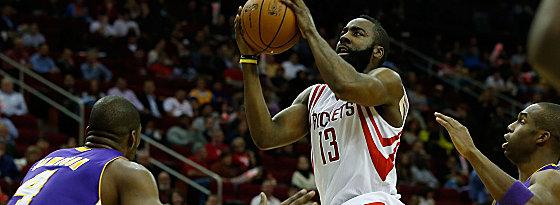 """Tanzte durch die Reihen der Lakers: """"The Beard"""" James Harden."""