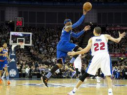Eleganz auf dem alten Kontinent: Carmelo Anthony zauberte nach zweiwöchiger Diät gegen die Pistons.