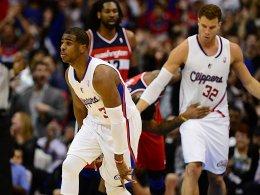 Dreier! Chris Paul nahm in der Schlussphase gegen die Wizards Fahrt auf.
