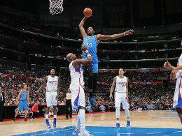 Hoch, höher, am höchsten: Kevin Durant überragte am Dienstag in Los Angeles.