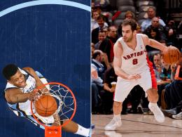 Die Eckpfeiler im jüngsten Mega-Deal der NBA: Rudy Gay (li.) und José Calderón.