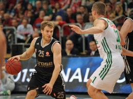 Bambergs Anton Gavel erzielte gegen Zalgiris Kaunas 25 Punkte, doch zum Sieg gegen die Litauer reichte dies nicht.