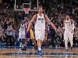 Dirkules ist zurück: Für Nowitzki und Co. reichte es gegen die Lakers trotzdem nicht.