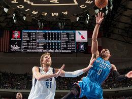 Am Ende zu spät dran: Dirk Nowitzki und die Mavericks unterlagen Russell Westbrook und den Thunder.