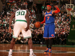 Carmelo Anthony gegen Brandon Bass
