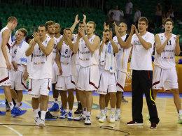 Siegreicher Abschied: Das DBB-Team gewann im letzten Gruppenspiel gegen Israel.