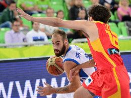 Überragender Akteur der Griechen: Vassilis Spanoulis erzielte 20 Punkte.