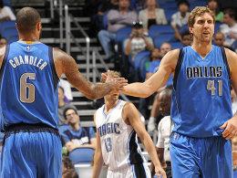 Gut in Schuss vor dem Saisonstart: Dirk Nowitzki, Tyson Chandler und die Dallas Mavericks.