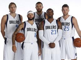 Die mögliche Starting Five: Nowitzki, Deron Williams, JaVale McGee, Wesley Matthews und Chandler Parsons (v.l.).