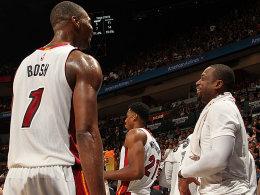 Chris Bosh und Dwayne Wade