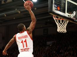 Im Pokal gegen das Überraschungsteam gefordert: Bradley Wanamaker und seine Brose Baskets Bamberg.