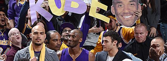 Die Sympathien geh�ren ihm ungeteilt: Kobe Bryant, hier beim j�ngsten Lakers-Spiel in Cleveland.