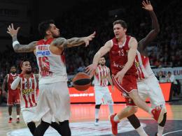 Der Mann des Abends für die Brose Baskets: Janis Strelnieks (#13).