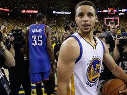 Der MVP macht's! Curry schie�t die Warriors ins Finale