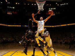 Stephen Curry gegen LeBron James