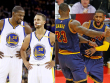 Kevin Durant, Stephen Curry, LeBron James und Kyrie Irving.