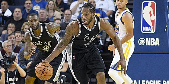 Mit Vollgas in die Saison: Kawhi Leonard übernahm die Führungsrolle beim Sieg der Spurs in Oakland.