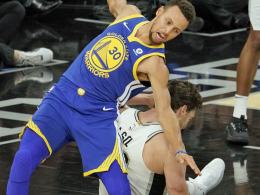 Kurzer Curry-Schock: Warriors mit Comeback-Sieg