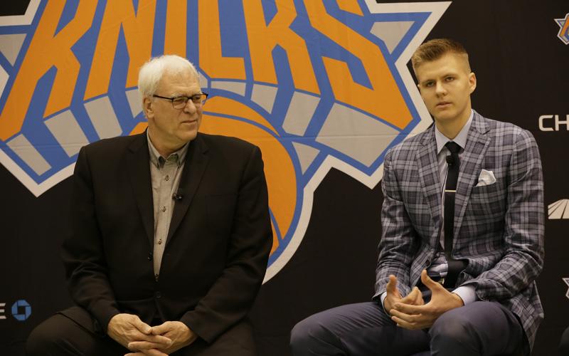 Der neue Knicks-Star Porzingis - erst ausgebuht, jetzt beklatscht