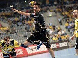 Steht fortan beim BHC im Fokus: Carlos Prieto, hier für Celje gegen die Rhein-Neckar Löwen.