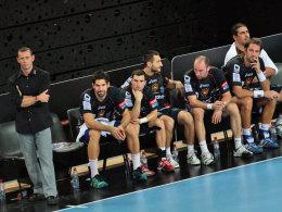 Ärger ohne Ende: Montpellier mit den Ex-Kielern Nikola Karabatic (2.v.l.) und Vid Kavticnik (3.v.r.) bekamen Besuch von der Polizei.
