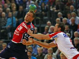 Lars Kaufmann (l.) gegen Andreas Rojewski