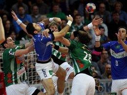 Er verletzte sich in Göppingen und fällt nun aus: Blazenko Lackovic (2.v.li.).