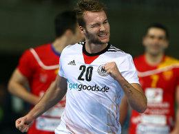 Seine Trefferserie im zweiten Abschnitt zog Mazedonien den Zahn: Kevin Schmidt.