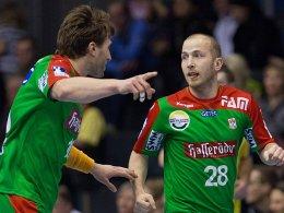 Tolle Leistung gegen Stiinta Bacau: Magdeburgs Fabian van Olphen und Robert Weber.
