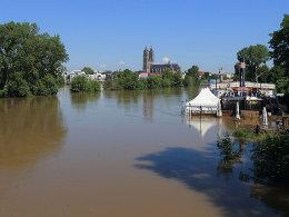 Elb-Hochwasser in Magdeburg: Der SCM hat sein letztes Saison-Heimspiel deshalb abgesagt.