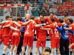 Bereit für den nächsten Jubeltanz? Die Melsunger stehen im EHF-Cup vor einer schweren Aufgabe.
