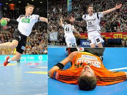 Verletzt am Boden, im Kieler Aufschwung und auf dem Sprung beim DHB: Christian Dissinger.