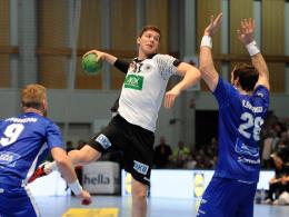 Steuerte acht Tore zum Testspiel-Erfolg der deutschen Handballer bei: Christian Dissinger.
