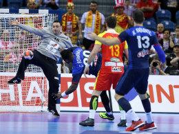 Hielt Mazedonien viel länger als gedacht im Spiel: Löwen-Keeper Borko Ristovski (#16).