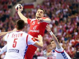 Legte gewohnt sein ganzes Herzblut an den Tag: Polens Michal Jurecki.