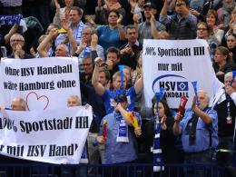 Auch die Fans des HSV Hamburg müssen sich von der Handball-Bundesliga verabschieden.