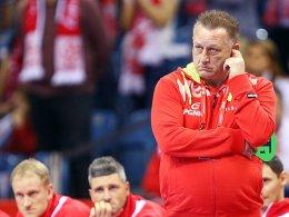 Gastgeber gescheitert: Gegen Kroatien kam für Polen und Michael Biegler das jähe Aus.