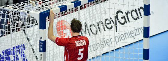 Einfach nur noch weg hier: Der enttäuschte Norweger Sander Sagosen.
