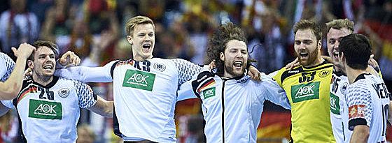 Endgültig: Die deutschen Handballer dürfen sich über den EM-Finaleinzug freuen.