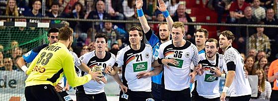 Zuletzt standen die Europameister um Torwart Andreas Wolff (li.) beim Allstar-Spiel in Nürnberg gemeinsam auf der Platte.