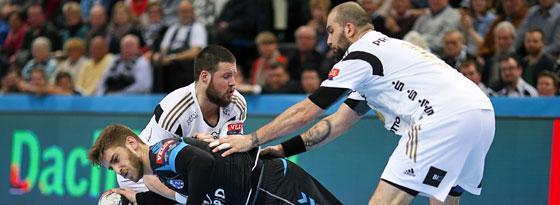 War in der Gruppenphase von den deutschen Teams kaum zu halten: Zagrebs Domagoj Pavlovic (unten).