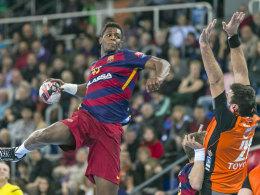 Hat für seine Größe eine unglaubliche Dynamik: Barcelonas Rückraum-Juwel Wael Jallouz.