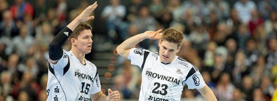Im DHB-Team und in Kiel eine Wucht: Christian Dissinger (l.) und Rune Dahmke.