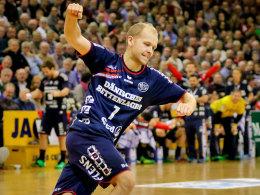 Stellte seine Klasse im Achtelfinal-Rückspiel eindrucksvoll unter Beweis: SG-Linksaußen Anders Eggert.