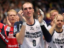 Sieben Tore und ein neuer Vertrag: Der Mittwoch war für Flensburgs Holger Glandorf rundum gelungen.