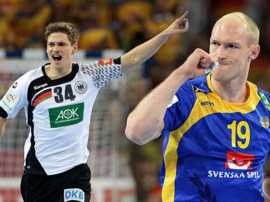 Rune Dahmke und Schwedens Johan Jakobsson (re.)