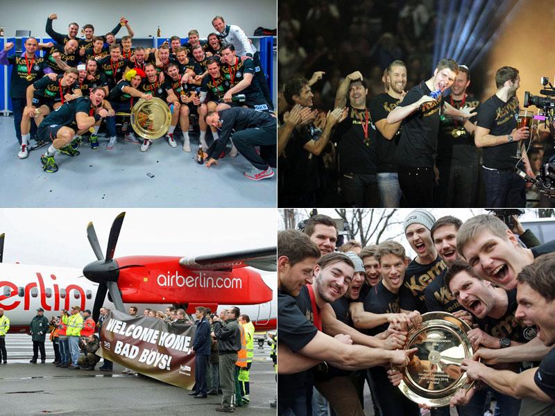 Die Europameister sind zurück: Feierlichkeiten, Ankunft und warmer Empfang.