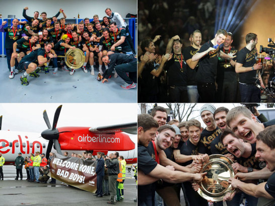 Die Europameister sind zur�ck: Feierlichkeiten, Ankunft und warmer Empfang.